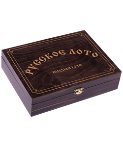 Лото 274-18, бочонок деревянный, в деревянной шкатулке, темно-коричневый - фото 53622