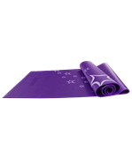 Коврик для йоги FM-102, PVC, 173x61x0,4 см, с рисунком, фиолетовый