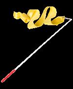 Лента для художественной гимнастики AGR-201 6м, с палочкой 56 см, желтый