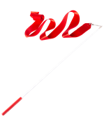Лента для художественной гимнастики AGR-201 6м, с палочкой 56 см, красный