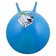 """Мяч-Попрыгун Starfit """"GB-403 """"медвежонок""""  65 см с ручкой, синий"""