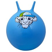 "Мяч-Попрыгун Starfit GB-402 ""тигренок"" 55 см с рожками, синий"