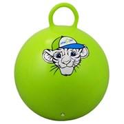 """Мяч-Попрыгун Starfit GB-402 """"тигренок"""" 55 см с ручкой, зеленый"""