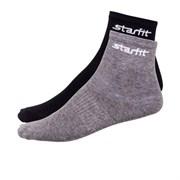 Носки средние Starfit SW-206 р.43-46 2 пары серый меланж/черный
