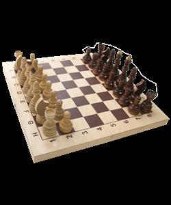 """Шахматы лакированные """"Гроссмейстерские"""" 400х200х55 - фото 43497"""