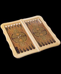 Нарды большие деревянные сувенирные,  Бухарские деревянные шашки - фото 43525