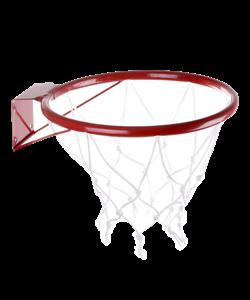 Кольцо баскетбольное d=380мм №5 с сеткой - фото 43595