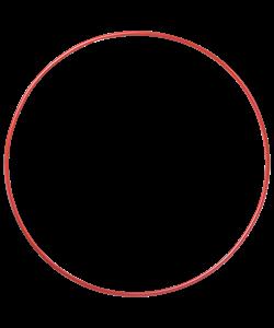Обруч алюминиевый гладкий окрашенный, диаметр 90 см. вес 0,36 кг. - фото 43667
