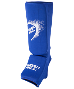 Защита голень-стопа SIC-6131, х/б, синяя - фото 43901