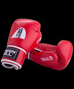 Перчатки боксерские GYM BGG-2018, 8oz, кожа, красные - фото 44006
