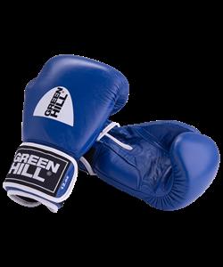 Перчатки боксерские GYM синие BGG-2018, 8oz, кожа, синие - фото 44021