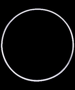 Обруч алюминиевый гладкий, диаметр 75 см. вес 0,3 кг. - фото 44334