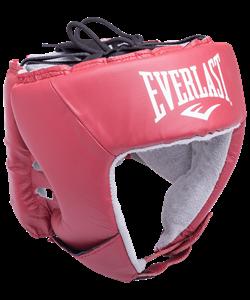Шлем открытый USA Boxing 610400U, L, кожа, красный - фото 44404