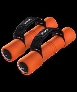 Гантель неопреновая DB-203 1 кг, оранжевая - фото 44555
