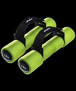 Гантель неопреновая DB-203 1,5 кг, зеленая - фото 44561