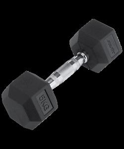 Гантель обрезиненная DB-301 5 кг, черная - фото 44574
