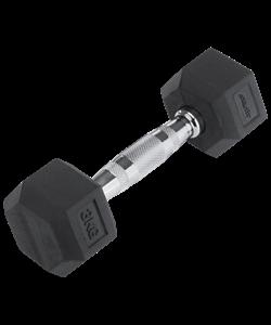 Гантель обрезиненная DB-301 3 кг, черная - фото 44576