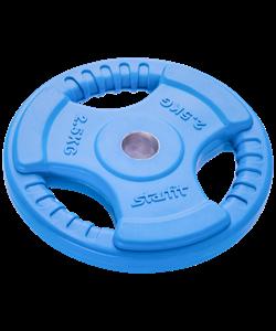 Диск обрезиненный BB-201, d=26 мм, синий, 2,5 кг - фото 44649