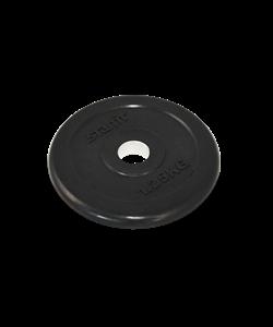 Диск обрезиненный BB-202, d=26 мм, черный, 1,25 кг - фото 44660
