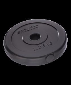 Диск пластиковый BB-203, d=26 мм, черный, 1,25 кг - фото 44668