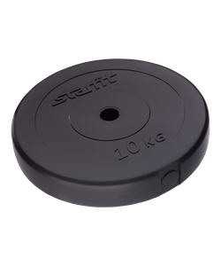Диск пластиковый STAR FIT BB-203  d=26 мм, черный - фото 44670