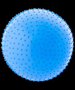Мяч гимнастический массажный GB-301 55 см, антивзрыв, синий - фото 44690