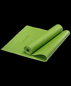 Коврик для йоги FM-101, PVC, 173x61x0,4 см, зеленый - фото 44701