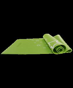 Коврик для йоги FM-102, PVC, 173x61x0,4 см, с рисунком, зеленый - фото 44718
