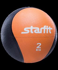 Медбол PRO GB-702, 2 кг, оранжевый - фото 44775