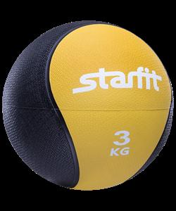 Медбол PRO GB-702, 3 кг, желтый - фото 44777