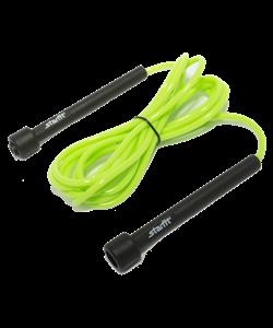 Скакалка STAR FIT RP-101 ПВХ с плаcтиковой ручкой, зеленая, длина 3 м. - фото 44779