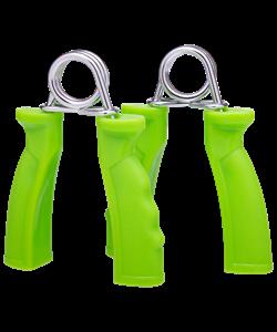 Эспандер кистевой STAR FIT ES-301 пружинный, жесткая ручка, зеленый, пара - фото 44805
