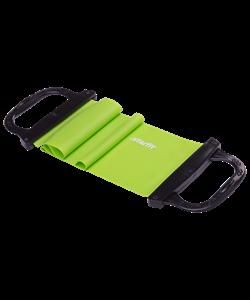 Эспандер ленточный ES-202 жесткая ручка, зеленый - фото 44828