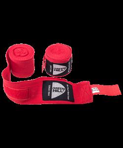 Бинт боксерский BP-6232c, 3,5м, эластик, красный - фото 44894