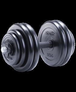 Гантель разборная обрезиненная DB-702 29,5 кг - фото 44983