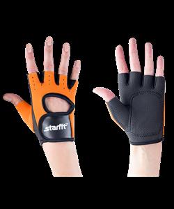 Перчатки для фитнеса SU-107, оранжевые/черные - фото 45105