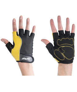 Перчатки для фитнеса SU-108, желтые/черные - фото 45107