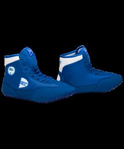 Обувь для борьбы GWB-3052/GWB-3055, синяя/белая - фото 45165