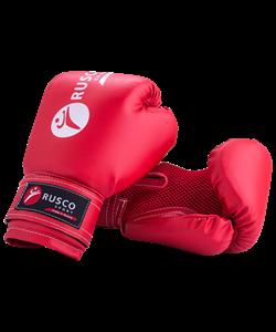 Перчатки боксерские, 8oz, к/з, красные - фото 45215
