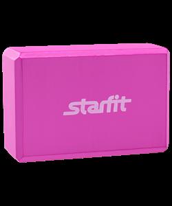 Блок для йоги FA-101 EVA, розовый - фото 45239