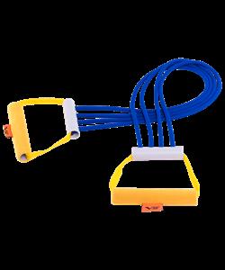 Эспандер плечевой V76 4 струны резиновый взрослый - фото 45241