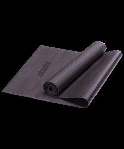 Коврик для йоги FM-101, PVC, 173x61x0,3 см, черный - фото 45271