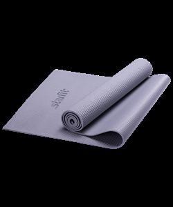 Коврик для йоги FM-101, PVC, 173x61x0,5 см, серый - фото 45275