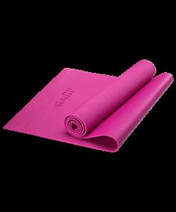 Коврик для йоги FM-101, PVC, 173x61x0,5 см, розовый - фото 45276