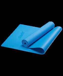 Коврик для йоги FM-101, PVC, 173x61x0,8 см, синий - фото 45284