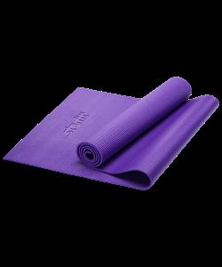 Коврик для йоги FM-101, PVC, 173x61x0,6 см, фиолетовый - фото 45286