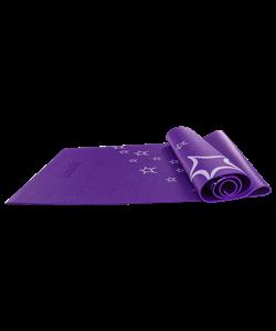 Коврик для йоги FM-102, PVC, 173x61x0,4 см, с рисунком, фиолетовый - фото 45288