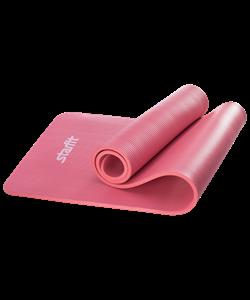 Коврик для йоги FM-301, NBR, 183x58x1,2 см, красный - фото 45302