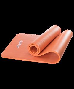 Коврик для йоги FM-301, NBR, 183x58x1,5 см, оранжевый - фото 45307