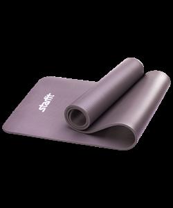 Коврик для йоги FM-301, NBR, 183x58x1,0 см, серый - фото 45312